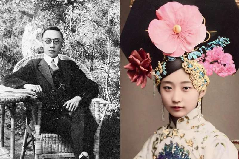 「晚清最美格格」王敏彤終生希望嫁給末代皇帝溥儀,然而溥儀對她沒有一絲感情。(合成圖/取自Wikipedia、百度百科)