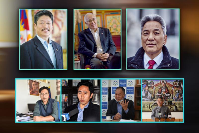 藏人行政中央新設策略規劃小組的三位顧問(上列)與四位秘書長成員。(作者提供)