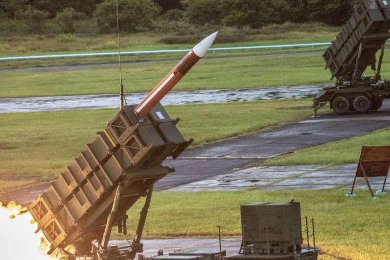 漢光演習期間亮相的愛國者三型飛彈。(美國之音)