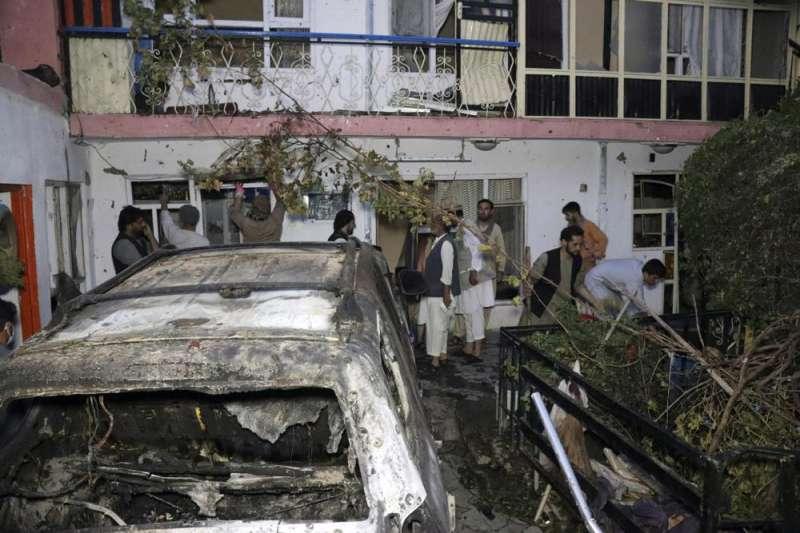 美國8月29日下午5時左右在阿富汗喀布爾發動無人機襲擊。(AP)