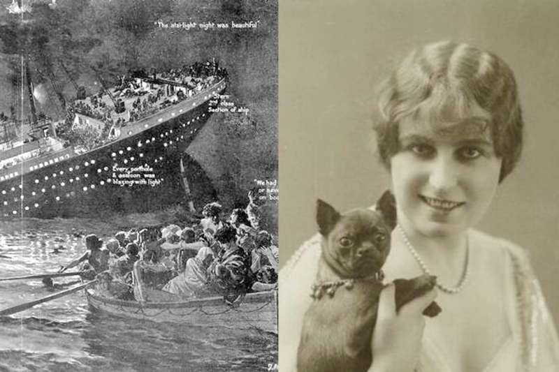 梅恩與巴斯特的愛情故事,堪稱是鐵達尼號最淒美的戀情。(合成圖/取自Wikipedia、Fandom)