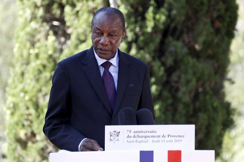西非國家幾內亞總統孔戴(Alpha Condé)(AP)