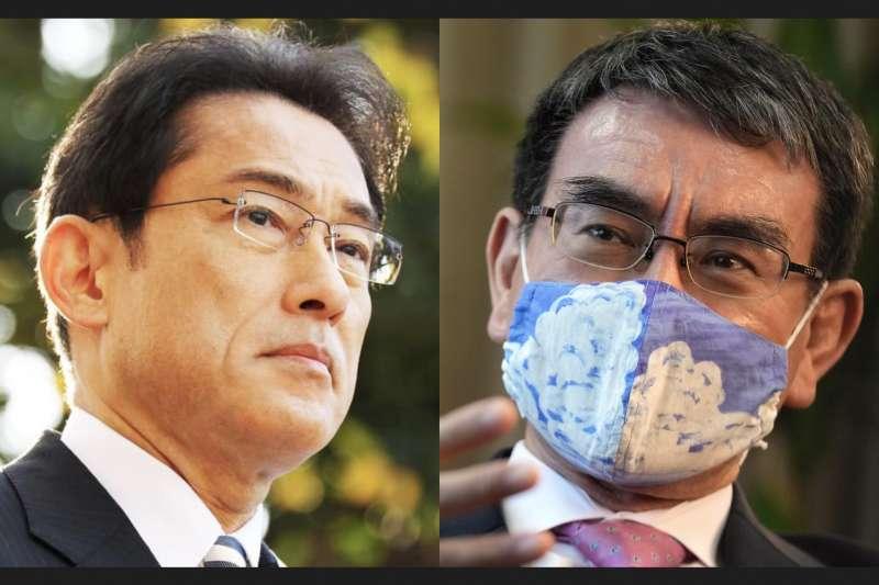 自民黨目前贏面最大的兩位選將:岸田文雄與河野太郎。(左:翻攝岸田臉書、右:美聯社)