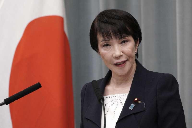 2021年9月,日本前總務大臣高市早苗宣布參選自民黨總裁(AP)