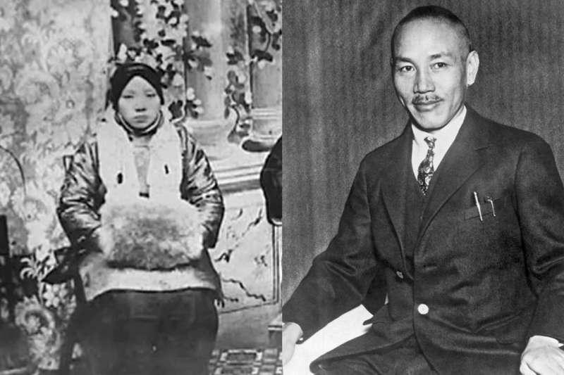 毛福梅是蔣介石的第一任妻子,她勤儉持家、生下蔣經國,然而蔣介石始終都不愛她。(合成圖/取自Wikipedia)