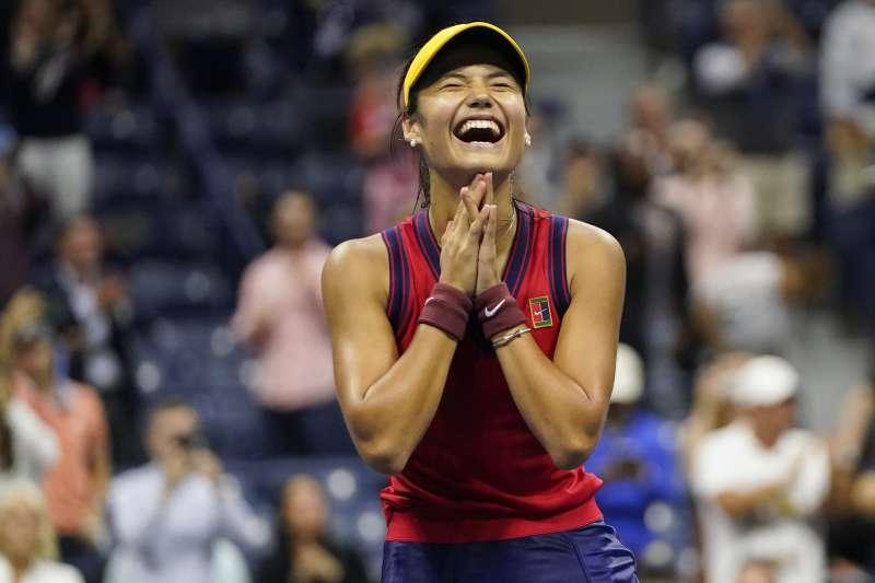 2021年美國網球公開賽,英國網壇耀眼新星拉杜卡努(Emma Raducanu)(AP)