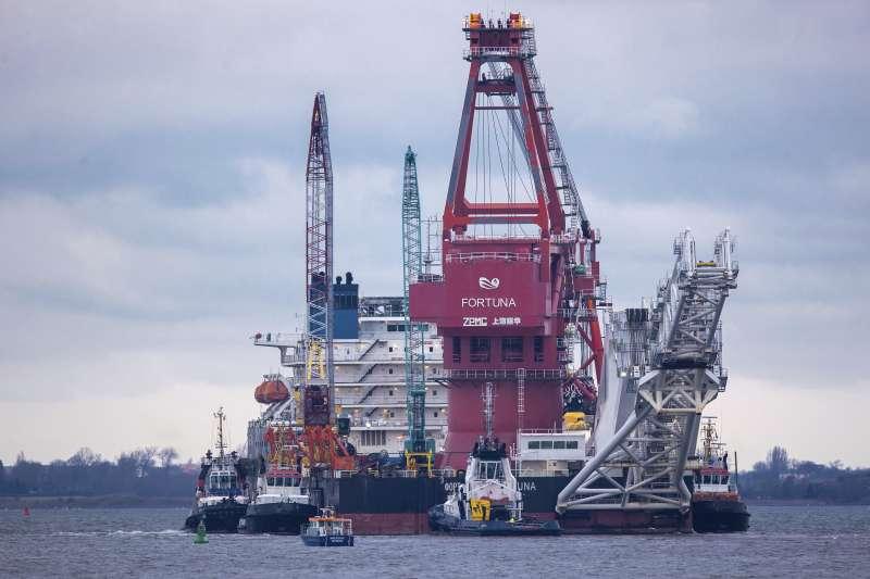 從俄羅斯輸送天然氣到德國的「北溪2號」(Nord Stream 2)管線(AP)