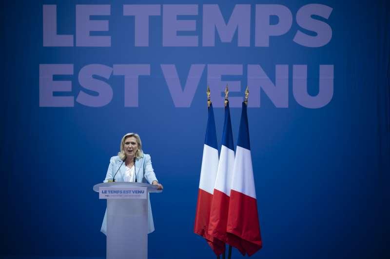 法國極右翼政黨「民族陣線」領導人勒潘(美聯社)