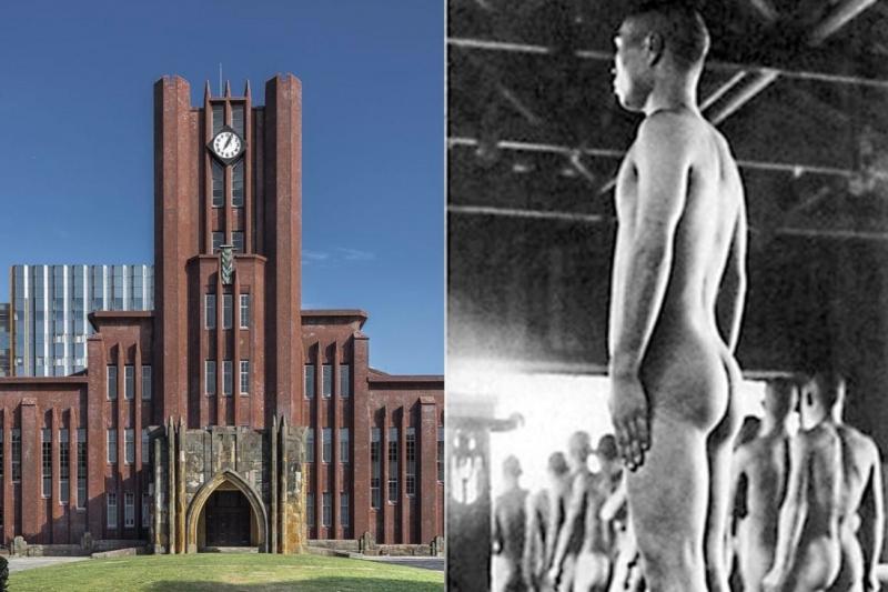 在過去的日本,以東大為首的知名大學和高中,入學測驗科目中有「陰莖檢查」這個項目,若不合格就無法就讀。(合成圖/取自Wikipedia、創意市集提供)