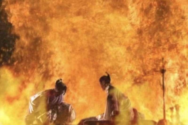 錦繪-本能寺燒討之圖