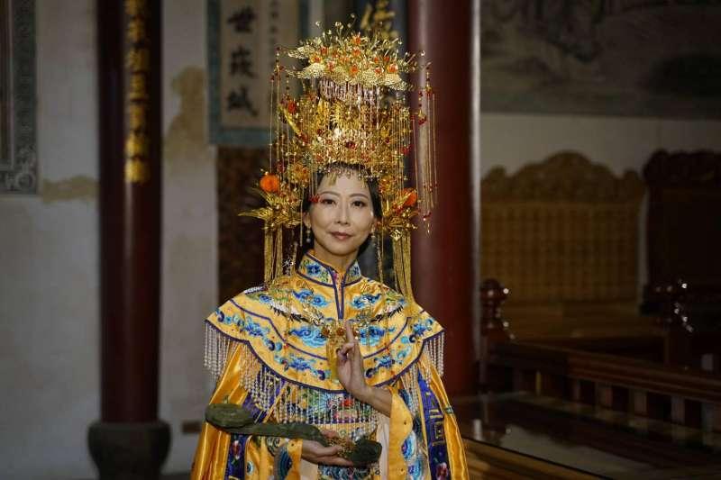 民進黨立委陳亭妃在民視戲劇中扮演「媽祖」一角,引發討論。(取自陳亭妃臉書)