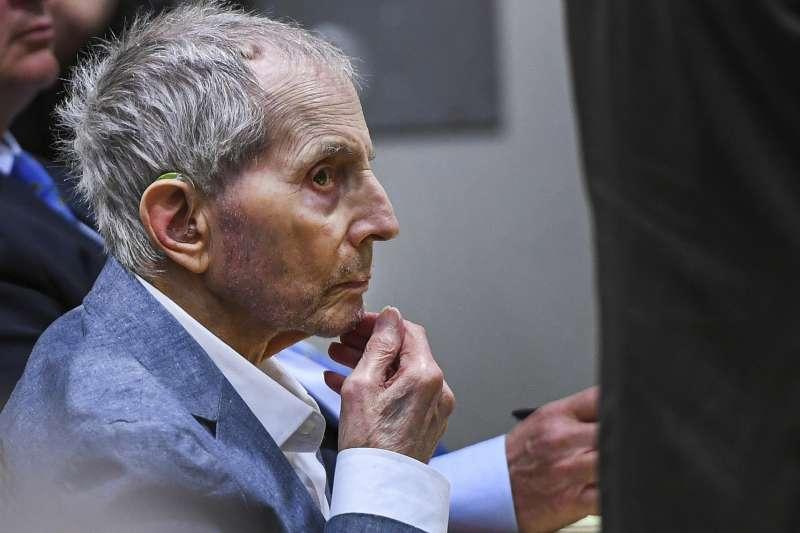 2021年9月,美國億萬富豪德斯特(Robert Durst)因涉嫌謀殺好友受審(AP)