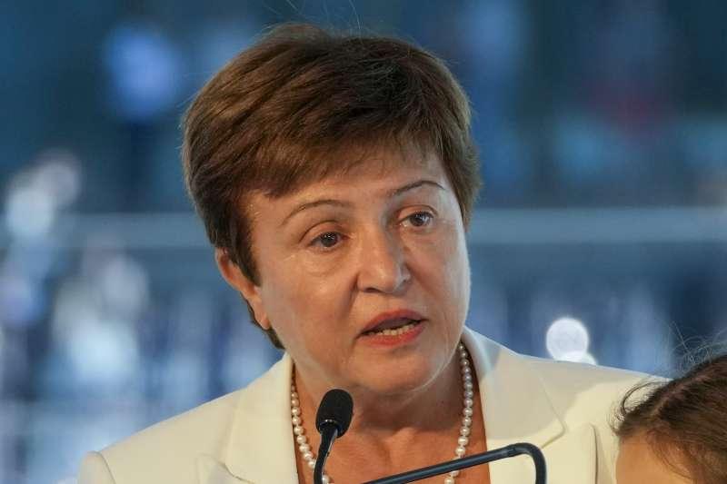 2021年9月,國際貨幣基金組織(IMF)總裁格奧爾基耶娃(Kristalina Georgieva)出席荷蘭氣候變遷會議(AP)