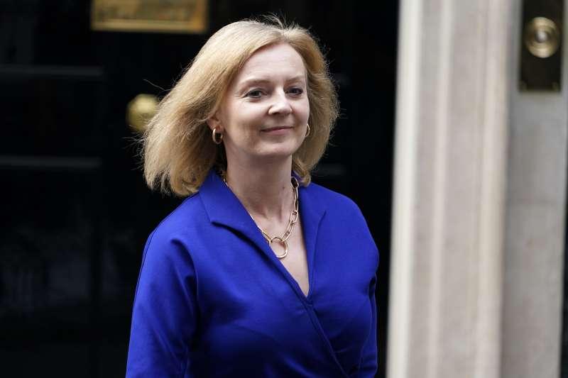 2021年9月,英國新任外相特拉斯(Liz Truss)(AP)