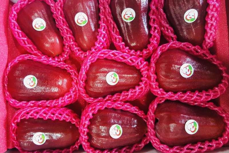 六龜蓮霧上周農產批發市場拍賣價格達110元/公斤,品質好果肉香甜。(圖/高市農業局提供)