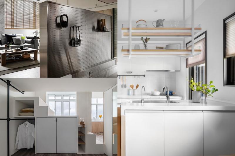 許多人的家中雜亂不堪,設計家特別整理了網友票選最滿意的5種收納設計,教你打造最舒適整潔的居家空間。(圖/設計家提供)