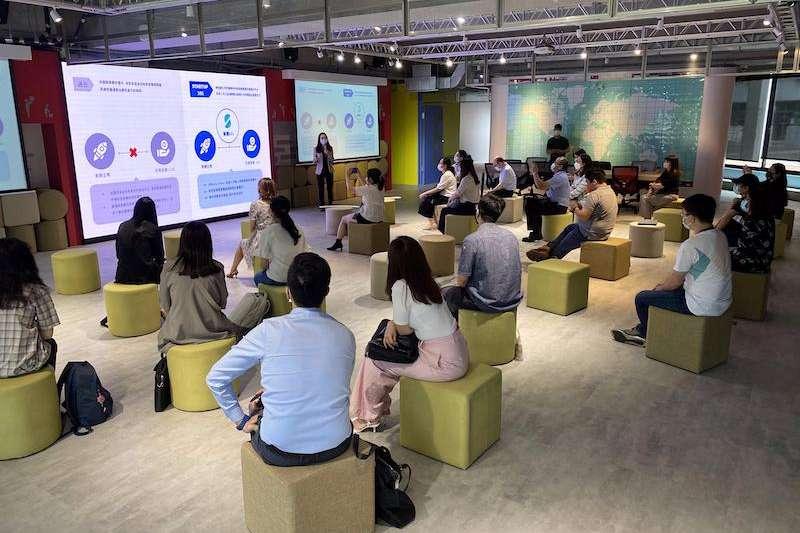 林口新創園AWS聯合創新中心新創資源分享會。(圖/贏創工業提供)