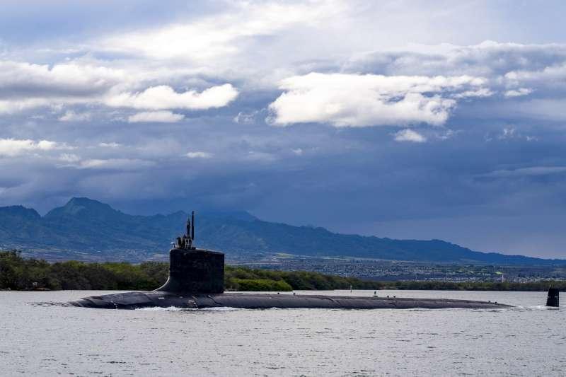 美軍洛杉磯級核動力潛艦「奧克拉荷馬號」(SSN 723)。(美聯社)