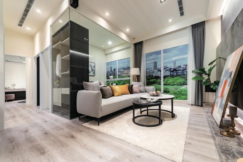 市場罕有的低公設比宅,室內空間奇大。(圖/富比士地產王)