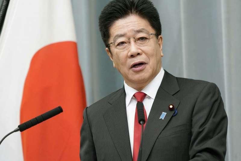 日本內閣官房長官加藤勝信。(美聯社)