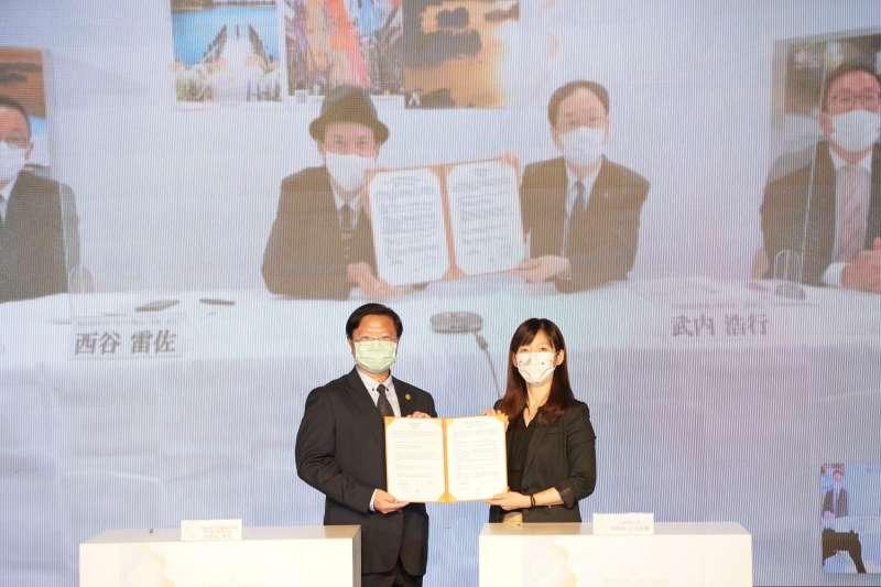 雲嘉南管理處與日本仙台松島簽署MOU締結姐妹觀光圈促進觀光產業交流 。(圖/雲嘉南濱海國家風景區管理處提供)