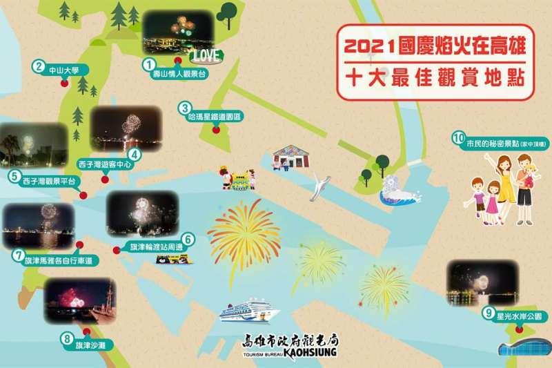 110年國慶煙火在高雄(圖/高雄市政府提供)