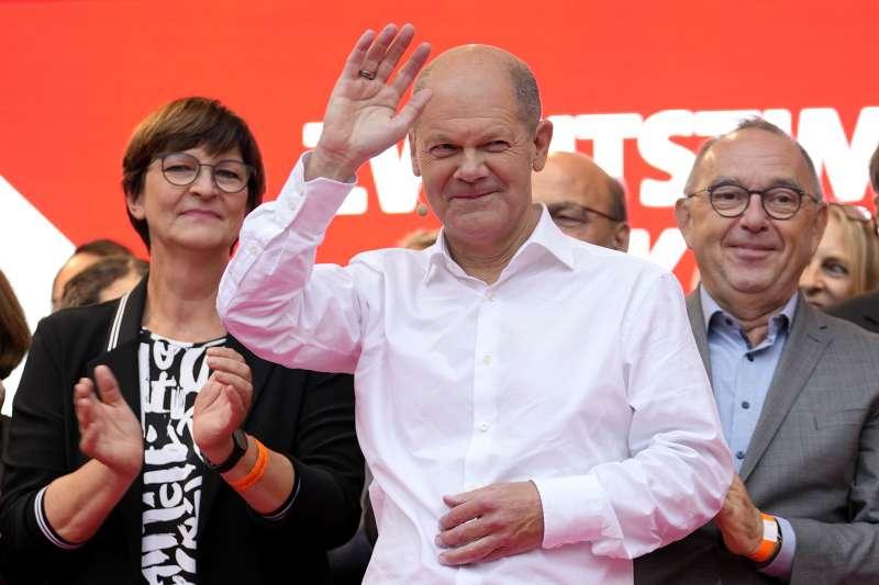 2021年德國大選,社民黨(SPD)總理候選人蕭爾茨(Olaf Scholz)(AP)