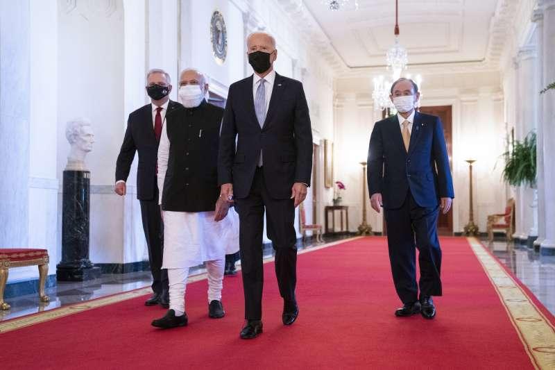 2021年9月25日,四方安全對話(Quad)領導人白宮峰會(AP)