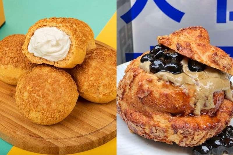 泡芙一直是饕客最愛的甜點之一,而大台北地區有10家泡芙品牌特別有名。(合成圖/網路溫度計提供)