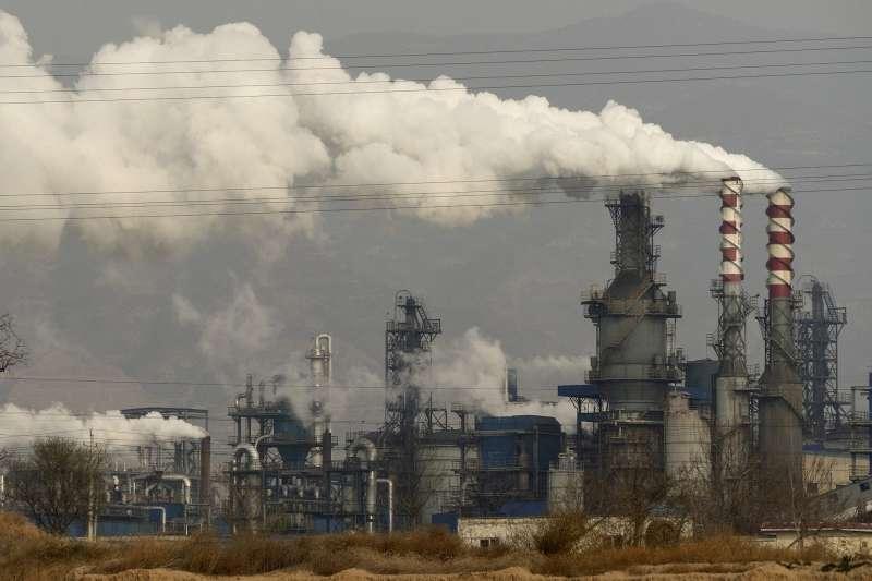 中國煤炭工廠。(AP)