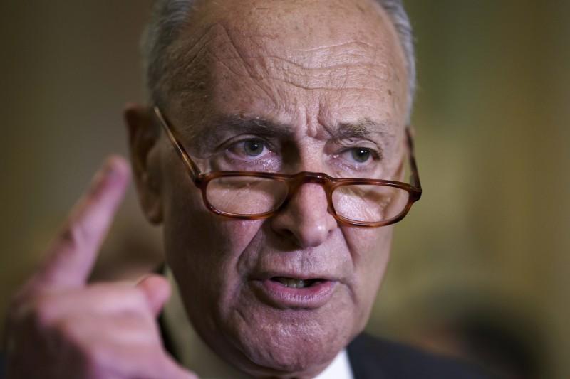 美國聯邦參議院民主黨領袖舒默抨擊共和黨不願配合通過預算法案。(AP)