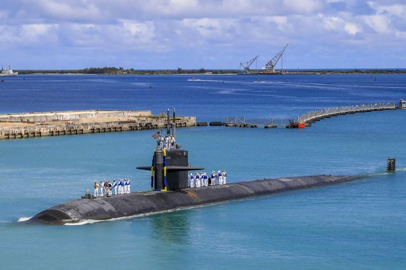 美國海軍洛杉磯級(Los Angeles-class)核動力攻擊潛艦「奧克拉荷馬市號」(USS Oklahoma City)(AP)