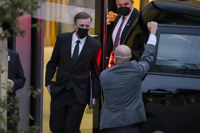 美國國家安全顧問蘇利文在蘇黎世與楊潔篪舉行會談。(資料照,美聯社)