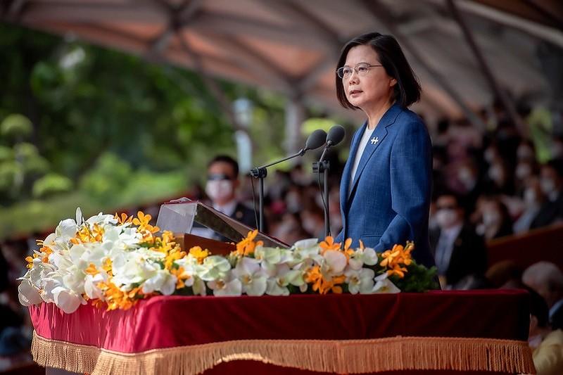 蔡英文總統以「共識化分歧,團結守台灣」為題,發表2021國慶講話。(資料照總統府官網)