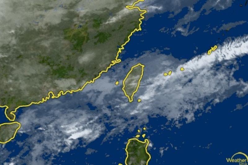 首波梅雨鋒面報到,明晚起全台降雨。圖為氣象衛星雲圖。(取自中央氣象局網站)