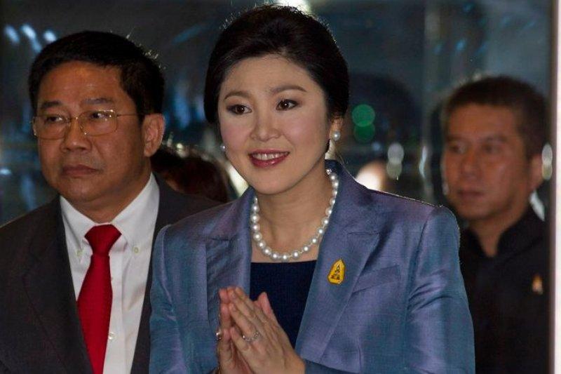 泰國總理穎拉面臨下台命運。(美聯社)