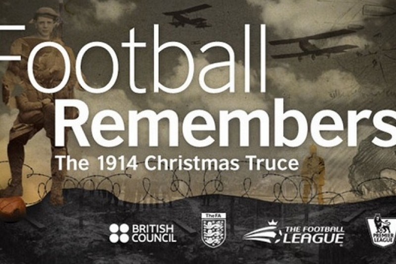 紀念第一次世界大戰「聖誕節休戰」足球賽的紀念活動已於英國展開(取自網路)