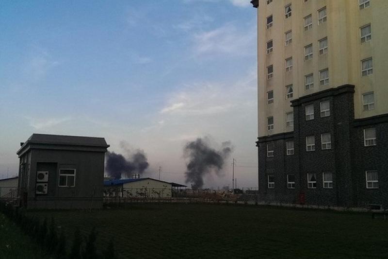 越南爆發排華暴動,台塑集團越南河靜鋼廠也受波及,廠內越南員工與中國員工爆發衝突。(取自513越南排華最新情況回報臉書)