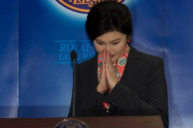 泰國前任總理穎拉23日遭到軍方逮捕,關押在一處軍事基地。(美聯社)
