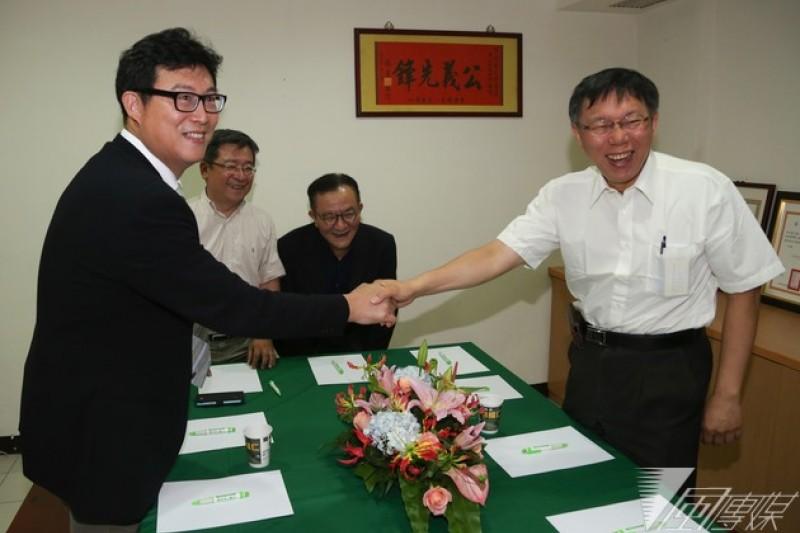 民進黨黨內初選勝出的姚文智,下月將與醫師柯文哲舉行民調,決定由誰出馬代表在野挑戰台北市長寶座。(資料照片,余志偉攝)
