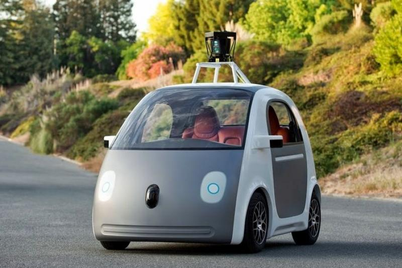 Google自動駕駛車的原型車。(取自網路)