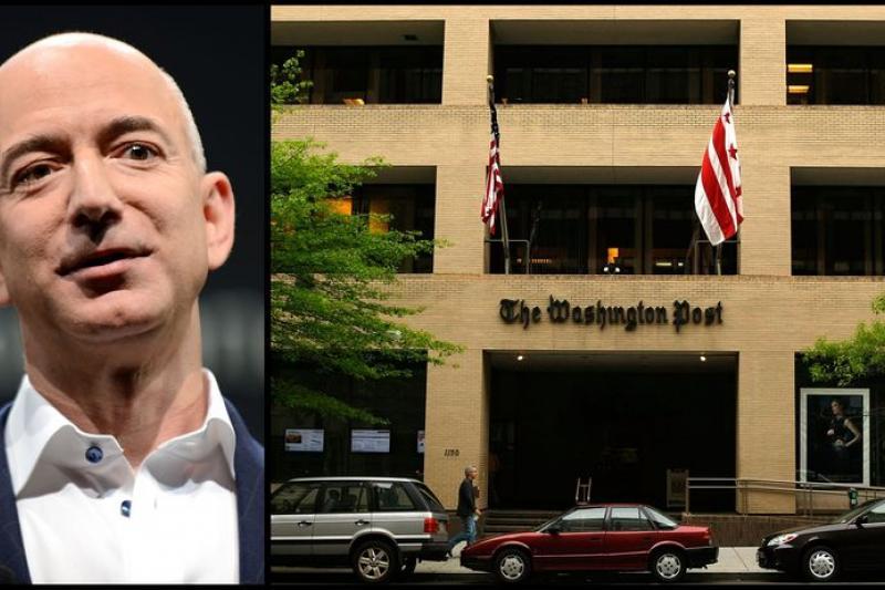 網路鉅子貝佐斯買下《華盛頓郵報》。(圖片來源:取自網路)