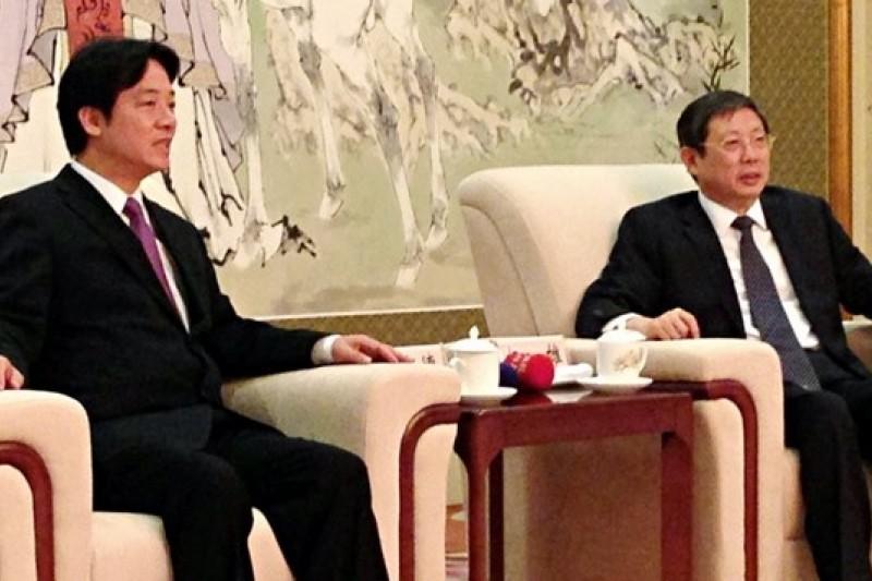 台南市長賴清德訪問中國,拜訪上海市長楊雄。(取自台南市政府官網)
