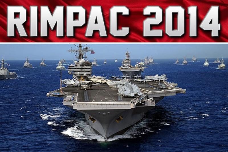 「環太平洋2014」多國聯合軍演即將登場,中國艦艇首度參加。(取自網路)