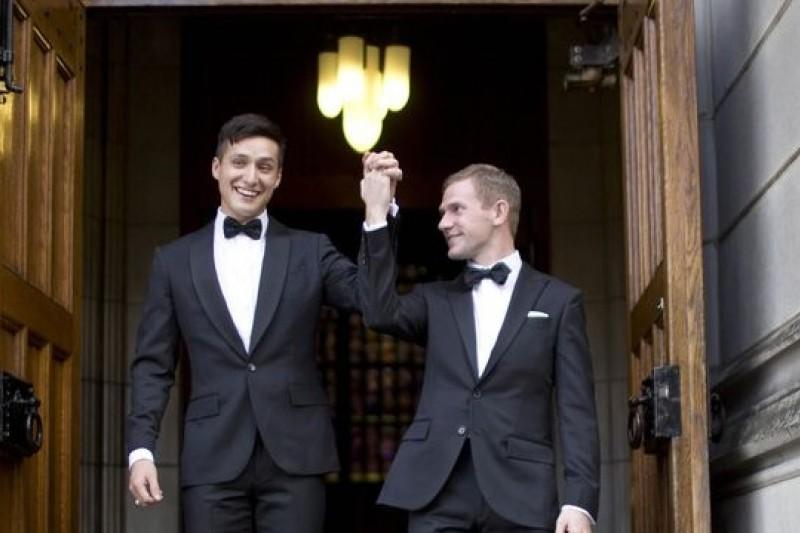 西點軍校首度舉辦男同性戀婚禮(取自網路)