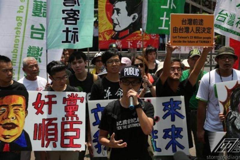 公督盟、台聯黨、青年團體、台派團體紛紛喊話,反對立院臨時會處理重大爭議法案,但最後仍以57:35,通過國民黨團版本的臨時會議程。(余志偉攝)