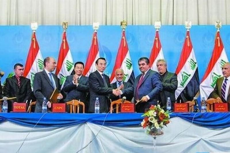 中國石油公司在伊拉克擁有大批合作項目,圖為哈法亞油田開發簽約儀式。(取自網路)