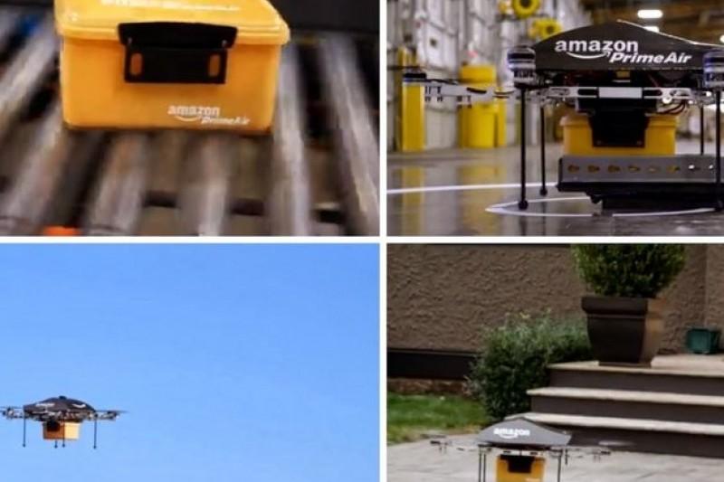 亞馬遜正在測試自行研發的無人機,於人口稠密的都會地區提供快遞服務(取自網路)
