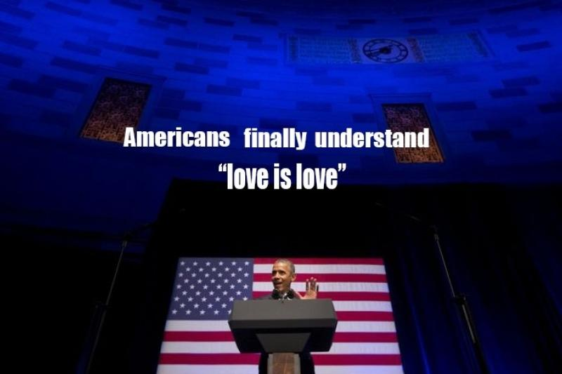 歐巴馬說:不管你是怎樣的人、愛的是誰,都不該害自己被解僱。(美聯社)