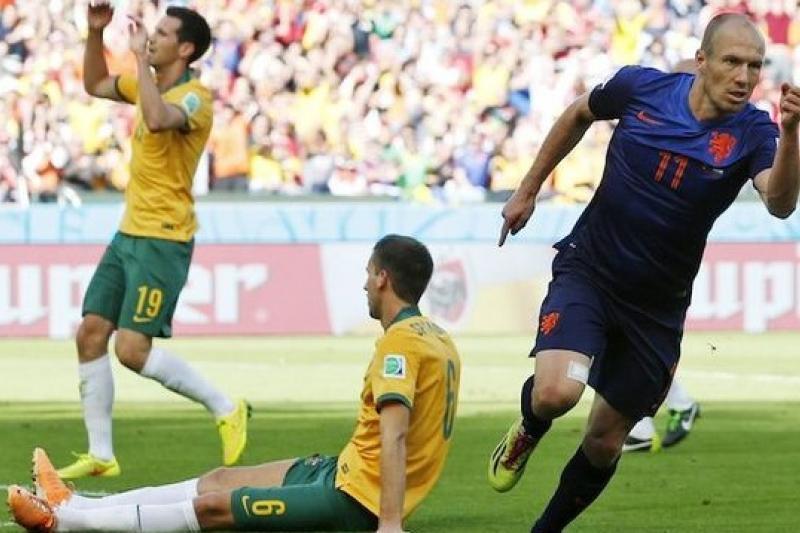 荷蘭隊取得6分積分,確定晉級。(美聯社)